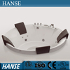 HS-B1606T acrylic big round freestanding used bathtub for fat people