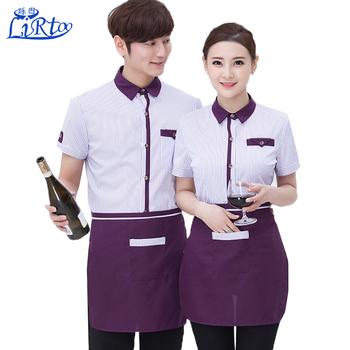 2760e4dde2e Super quality unisex restaurant chef uniform shirts cafe waitress and waiter  uniforms