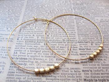 Beaded Hoop Earring Designs Fake Gold Earrings Make Beads