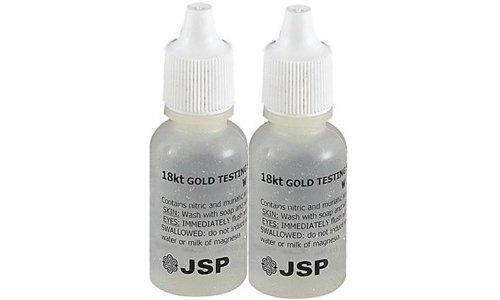 2 Bottles 18K Gold Metal Test Acid Karat Testing Liquid Solution Jewelry Tester