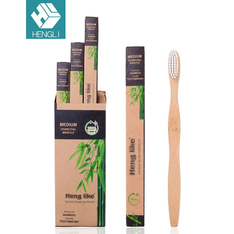 Good Sale Wooden <strong>Eco</strong> OEM 4 Pack Bamboo Charcoal Disposable Toothbrush