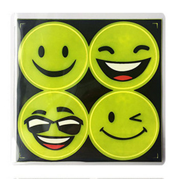 Reflective Smiley Face Stickers