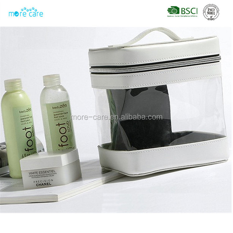 travel unisex transparent wash bag clear pvc toiletry bag