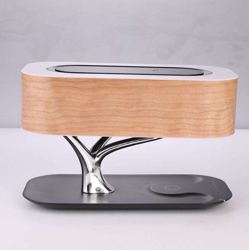 MESUN Hot Sales Tree table lamp with wireless charger and bluetooth speaker, good for hotel, Home use