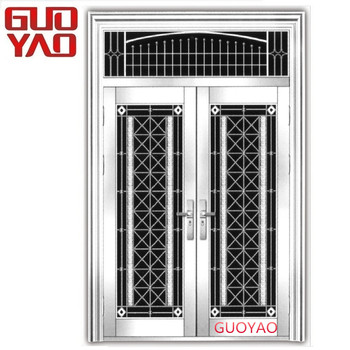 Ss304 Residential Safety Entry Stainless Steel Door Design Best Price Luxury House Front Double Security