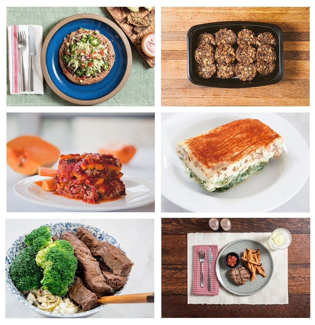 Factor 75 - 12 Fresh Meals, Organic, Gluten Free, Soy Free, No GMOs: Mongolian Beef & Broccoli, Butternut Squash Turkey Lasagna, Grass-fed Burger, Taco Bowls, Chorizo Frittata, Superfood Bites- Bundle