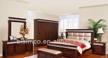Vintage Design Bedroom Furniture Set,Classical Natural Wooden ...