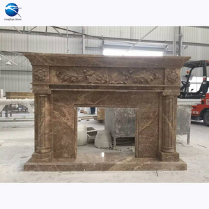 light emperador dark longtops stone cheap marble gas fire place