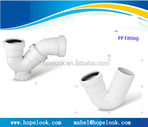 Hot sell plastic fitting pp pipe fitting waste water for Pvc for hot water