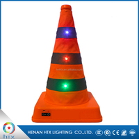 2017 PVC Led Safety Traffic Warning Light Cone With Rechargeable Battery