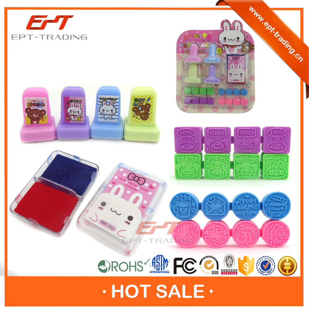 Cute plastic mini stamp making machines for kids