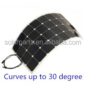 100W Flexible Solar Panel, 100 Watt Monocrystalline solar panel for RVs, Boats, Cabins