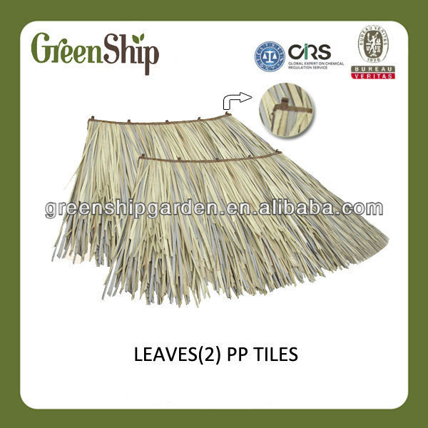 Garden Hut Thatch Roof Tile from GreenShip/ grass mat/patented product/ eco-friendly/ weather-resistant
