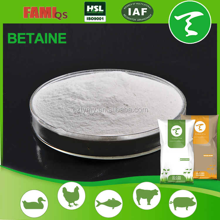 Betaine Anhydrous 98%/raw materials and additives of animal feed