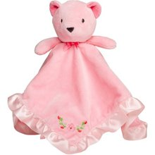 High quality soft plush bear head baby comforter coral fleece baby blanket