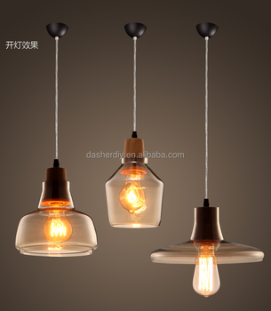 Hot Cake European Style Designer Lighting Replicas Modern 3pcs Together Amber Smoke Gray Gl Pendant Lamp