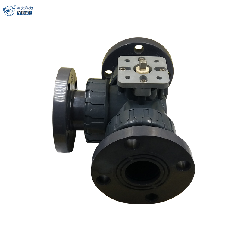 Vietnam best selling water stop 3 tee way pvc valve