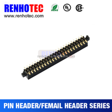 PCB Design Pitch 180 Degree Double Row SMT Female Pin Header