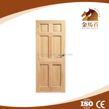China Alibaba Best Selling Varnished 6 Panel Clear Pine Wood Cheap