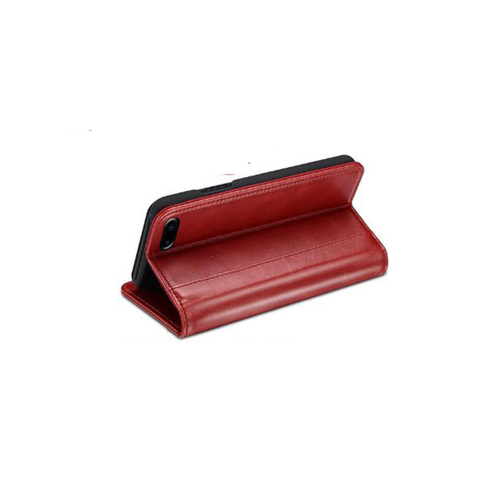Genuine Leather Cell Phone Flip Cases With Card Holders