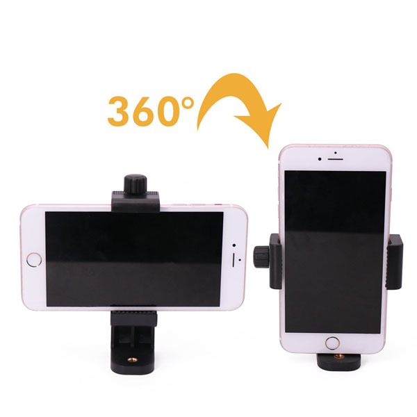 "Screw Locking Clamp Range 58-108mm Clip Bracket Holder Monopod Tripod 1/4"" Mount Adapter Arm for iPhone 6 plus 5 5S 6 6S SE PDA"