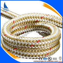 yacht braided rope 6mm- 25mm polyester polypropylene mooring rope