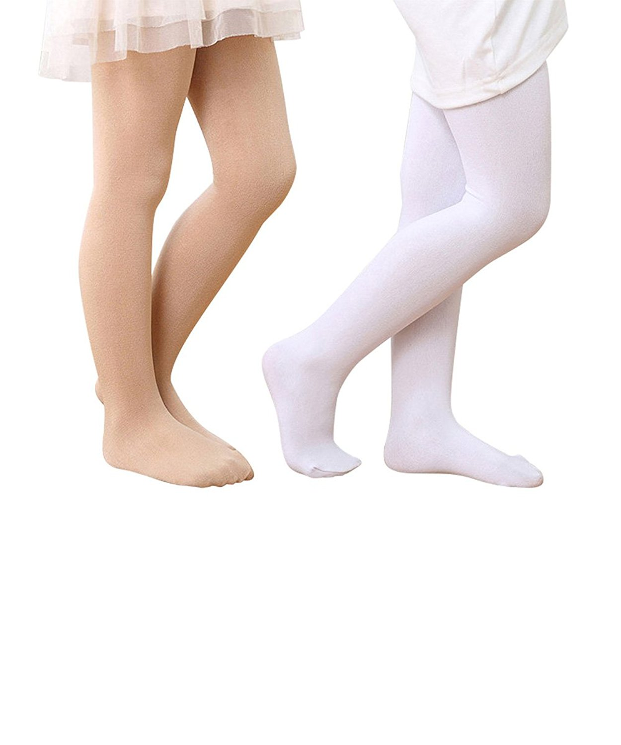 5cc362ae580f0 Get Quotations · Durio Ultra Soft Solid Color Kids Girls Tights Dance  Footed Tight Legging Children Basic Opaque Tights