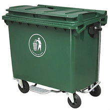 660L Large Size Outerdoor Plastic Garbage Bin with Wheels and Pedal