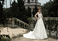 ZM16010 Factory Supply Vintage Spaghetti Strap Beach Wedding Dress Plus Size Princess Style Wedding Dress For Fat Bridal