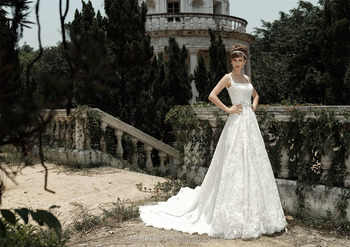Zm16010 Factory Supply Vintage Spaghetti Strap Beach Wedding Dress Plus Size Princess Style For