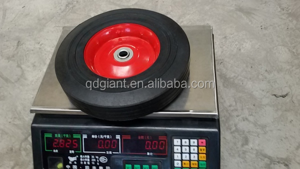 Qingdao manufacturer solid rubber wheel 10x2.5 inch