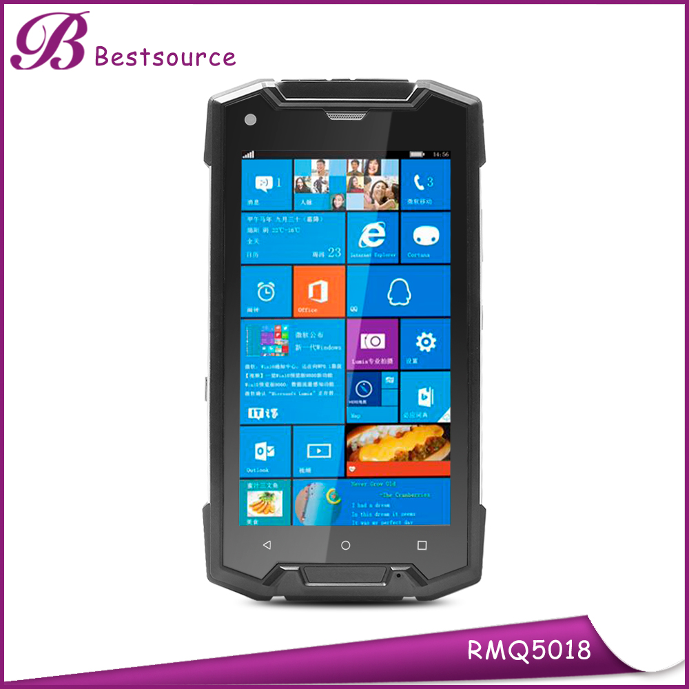 Low Price 5 inch IP68 Dual OS Android 5.1 & Win10 Waterproof Rugged Mobile Phone with NFC