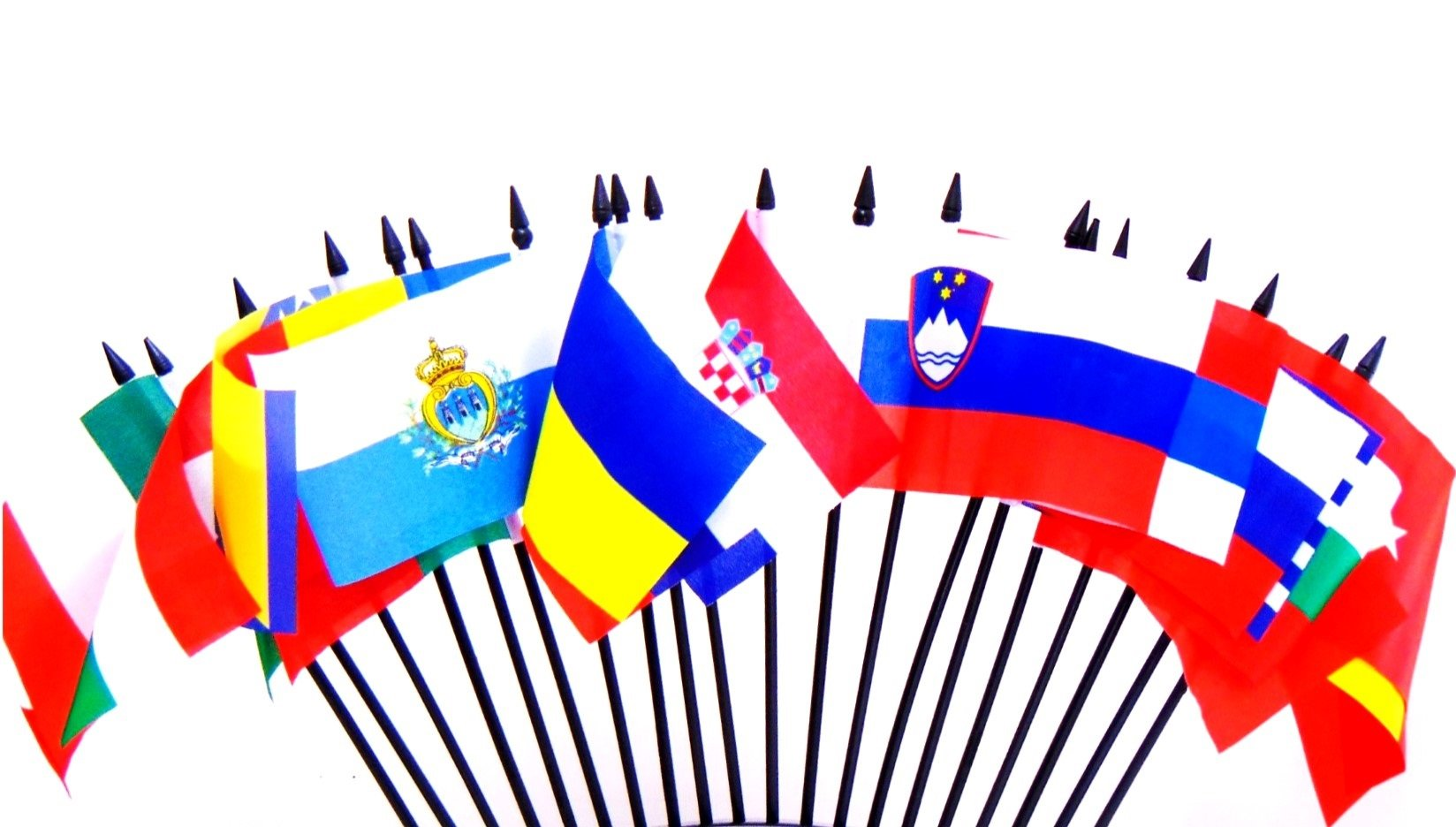"""Southeast Europe World Flag SET-20 Polyester 4""""x6"""" Flags, One Flag for Each Country in Southeast Europe 4x6 Miniature Desk & Table Flags, Small Mini Stick Flags"""