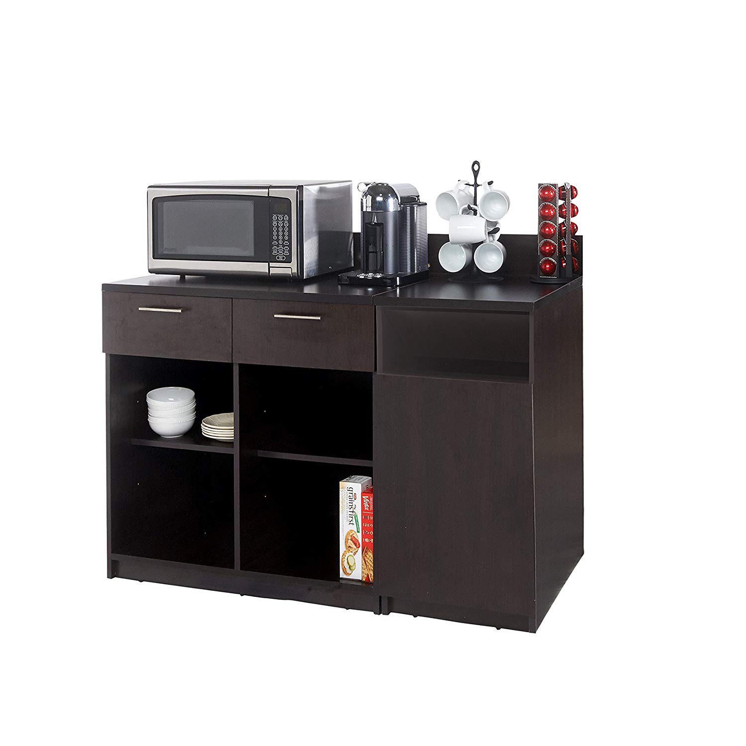 Coffee Kitchen Lunch Break Room Cabinets Model 4282 BREAKTIME 2 piece group Color Espresso - Factory Assembled (NOT RTA) Furniture Items ONLY.