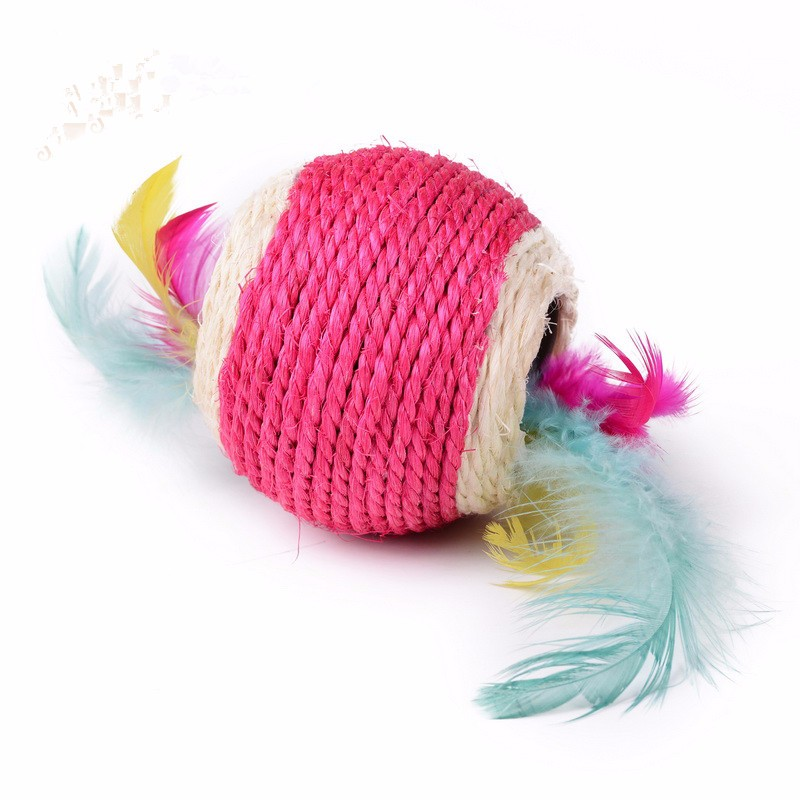 2020 new innovative sisal colorful pet supplies ball outdoor cat toys