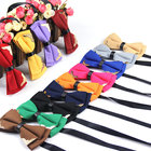 New Classic Gravata Cravat Fashion Boutique Metal Head Bow Ties For Groom Men Women Butterfly Solid Bowtie