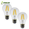 Made In China pf>0.95 Led Bulb A60 Vintage Edison Light Bulb 2w 4w 6w 8w 2700k E27 Globe Led Filament Bulb led lamp