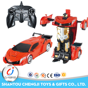 Hot 1:12 kids toys rc car one-click auto shows robot for sale
