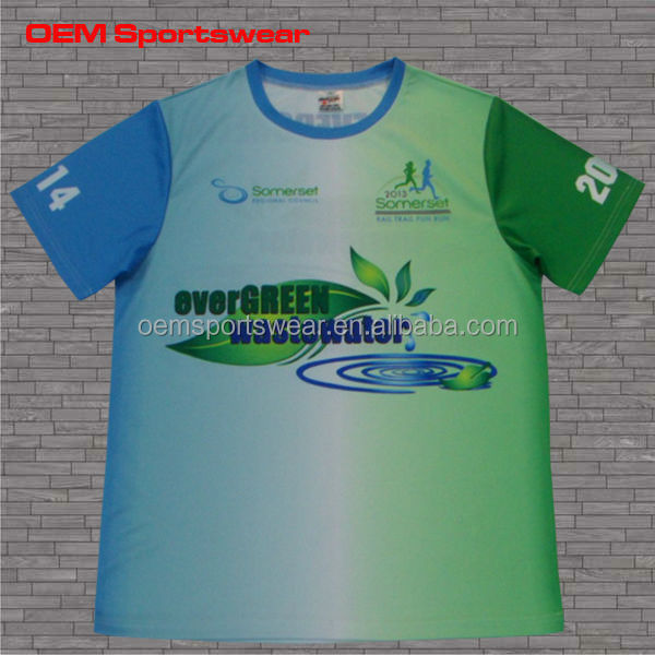 Coolmax sublimation 100% polyester sports t shirts