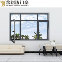 JYD Energy saving double glass window aluminium casement windows and doors