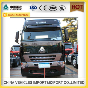 Sinotruk 3 axle Howo a7 tractor truck and sinotruk import and export co ltd