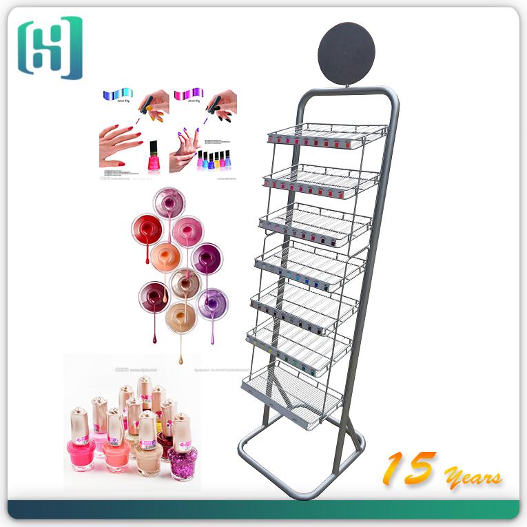 Nail Polish Display Stand /metal Floor Polish Display Stand For ...