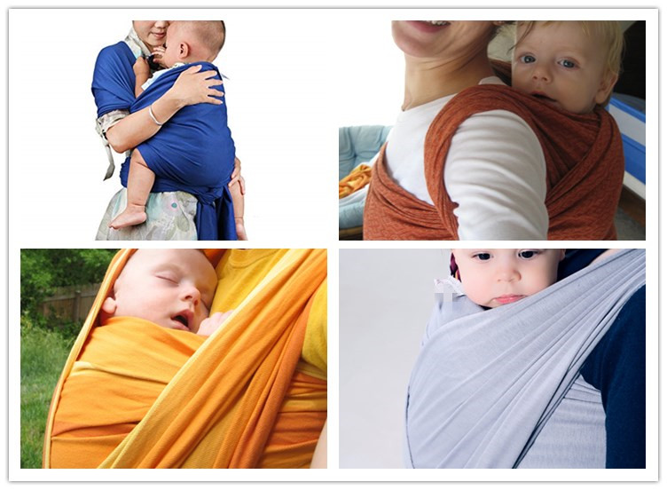 More choices of colors 95% cotton baby sling wrap carrier