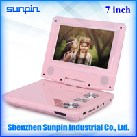 Christmas gift for kids 7-inch Tablet pc Portable DVD Players Pink