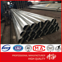 NEA 25FT 30FT 35FT 40FT 45FT galvanized power octagonal steel pole / Philippines electric steel pole
