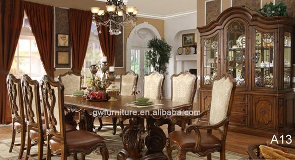 2016 de lujo de madera juego de comedor conjunto mesa de for Muebles de comedor elegantes
