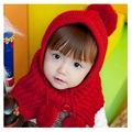 Baby Girls Sweet Hat Wool Knit Hats Christmas Present 2016 New Fashion Warm Hat for Children