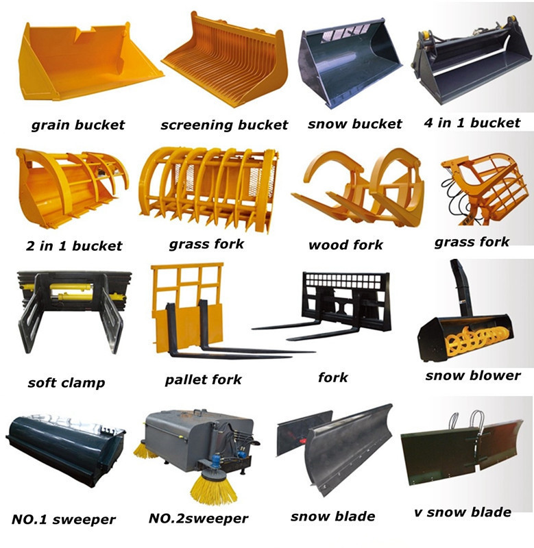 Articulated Mini Chinese Front End Loader Attachments