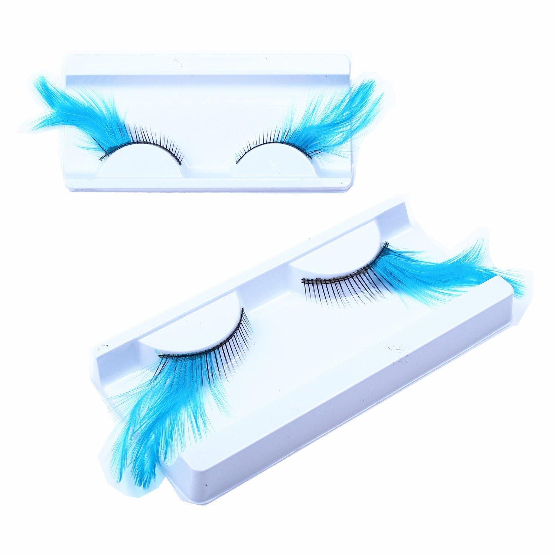 4f94723d9f5 Makeup Popular False Feather Eyelashes Eye tatoo Blue Feahtet Black False  Eyelashes