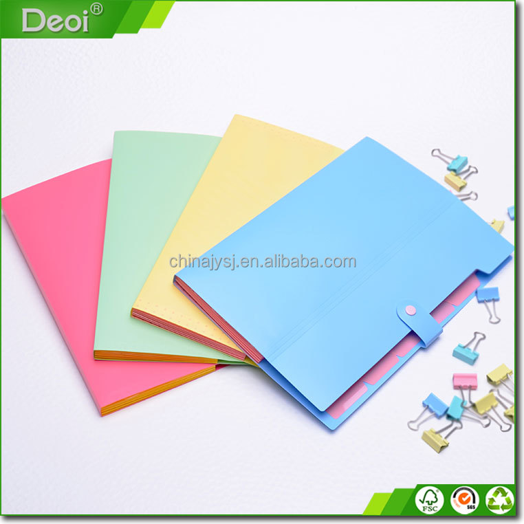 office supplies factory expandable pp file folders 13 pocket